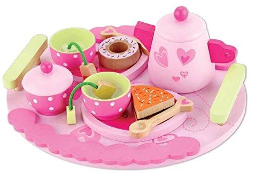 Classic World Dinette - Service à thé en Bois - Jeu d'imitation