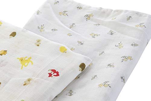 Manta Muselina para bebé unisex, súper suave de algodón110x93cm, manta para envolver o jugar, neutral, manta grande para recién nacidos para niños y niñas, juego de 2