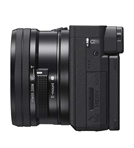 Sony Alpha 6400 E-Mount Systemkamera (24 Megapixel, 4K Video, 180° Klapp-Display, 0.02 Sek. Echtzeit-Autofokus mit 425 Kontrast AF-Punkten, inkl L-Kit 16-50 mm Objektiv) schwarz + Bluetooth Handgriff