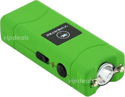 VIPERTEK VTS-881 70 MV Rechargeable Micro Mini Stun Gun LED Flashlight - Green