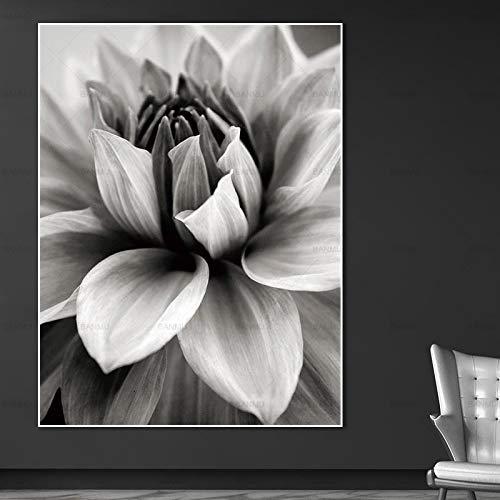 wopiaol Kein Rahmen Nordisches Plakatbild Leinwandmalerei Wandkunstplakatdruck Abstrakte Blume in der Blüte Wandbild Wohnzimmer Kunstdekoration