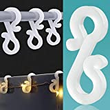 BYYL Christmas Light Hooks Christmas Mini Gutter Hang Hooks Weatherproof Plastic Clip Hooks for Festival Decoration Outside String Lights (100) (Small)