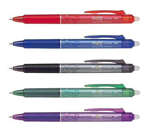 Pilot Retractable 0.5mm Fine Tip Heat & Friction Erasable Pens Best Sellers Set