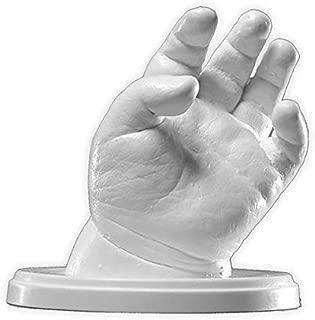 Lucky Hands® Huellas de bebe en 3D | Los bebés y los niños de 7-48 meses | Kit completo | Improntas mano y pie | Regalo de Navidad, regalo de nacimiento (4-6 moldes)