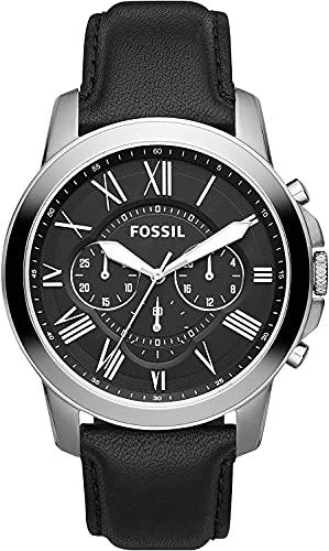 Fossil Homme Chronographe Quartz Montre avec Bracelet en Cuir FS4812IE