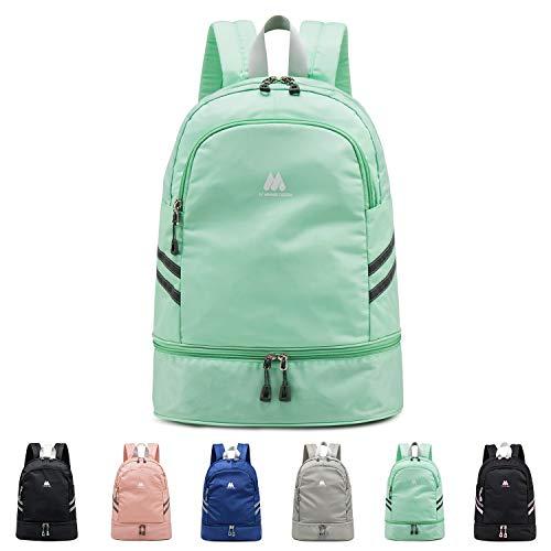 FEDUAN Sport-Rucksack Sporttasche mit Schuhfach und Nassfach Damen Herren Teenager Backpack für Fitness Gym Outdoor Camping Schule Schwimmbad Fahrrad-Rucksack Mädchen Junge Kinder türkis