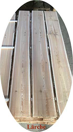 Lagergenial Baumscheibe, Holzscheibe - Lärche Bohle Brett Scheibe rötliches Holz naturbelassen (ca. 100 cm, Lärche)