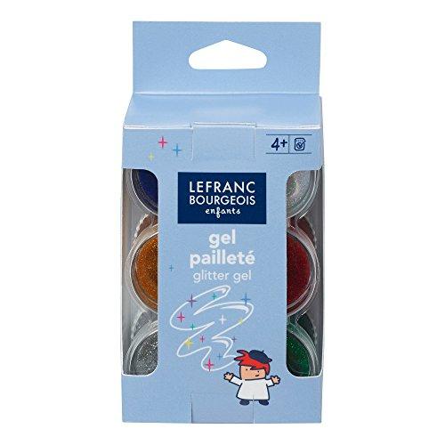 Lefranc Bourgeois - Gel pailleté pour enfants - 6 pots de 22ml