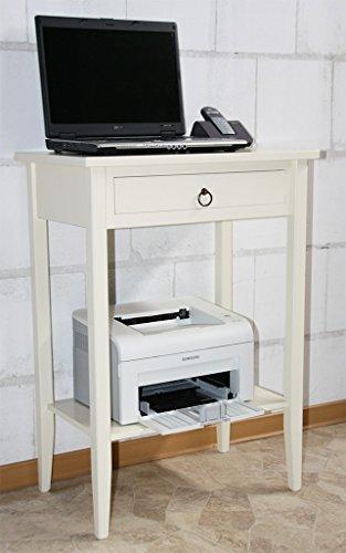 Casa Massivholz Beistelltisch Konsolentisch Druckertisch Laptoptisch Creme