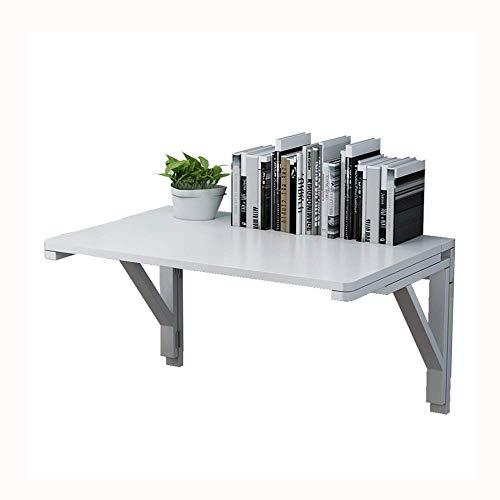 AOIWE Mesa de madera para montar en la pared, escritorio plegable, apartamento pequeño, escritorio simple, escritorio de computadora, escritorio de escritura, mesa de comedor (tamaño: 70 x 50 cm)