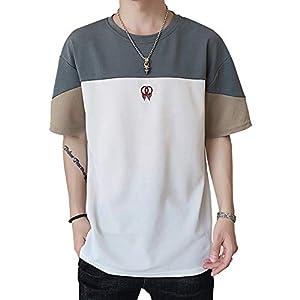 Tシャツ メンズ 半袖 無地 五分袖 カットソー 吸汗速乾 軽量 柔らかい 快適な 夏服 夏季対応 白 M
