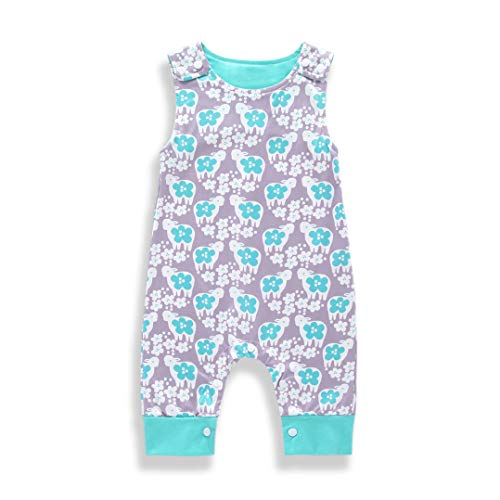 YOUNGER TREE Newborn Infant Baby Boy Girl Romper Bunny Whale Print Jumpsuit Onesies Summer Outfits