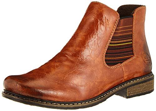 Rieker Damen Z4994 Chelsea Boots, Nuss Braun Multi 22, 39 EU
