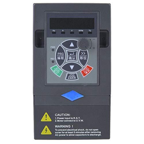 Frequenzumrichter VFD,Frequency Inverter 220V 2.2KW 1 Eingang 3 Phase Ausgang Universal VFD Frequenzumrichter Wechselrichter VFD Drehzahlregler für Motoren,Mischer,Kugelmühlen,Pumpen,Förderer usw