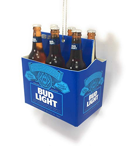 Kurt Adler Budweiser Bud Light Six-Pack Miniature Christmas Ornament