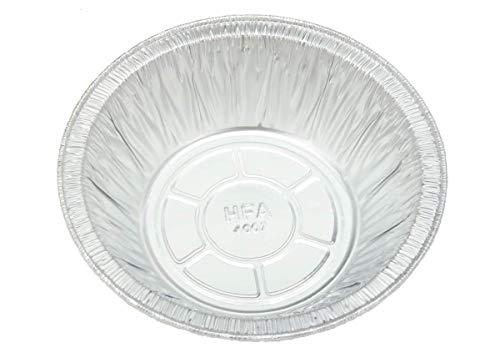 50 Count 5 3/4' Disposable Aluminum Pot Pie/Deep Individual Pie Pan 12 oz. Capacity