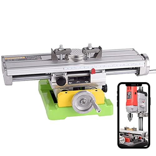 PTS-Flamingo Tools BG-6350 Benchtop Milling Machine | Mini Compound Bench Mill | Multifunction Milling Bench Drill | Table Milling Machine | Bench Drill with X Y Adjustments