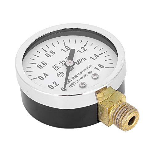 Medidor de presión Durable Y60, Internos de latón Cambios de presión Valor de presión Medición de la casa Hecho de metal