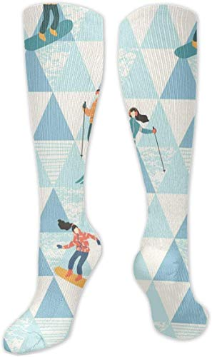 Nifdhkw Skiers and Snowboarders High Performance Athletic Casual Long Sock for Women and Men - Fit for Travel,Running,Hiking,Soccer, Nurses