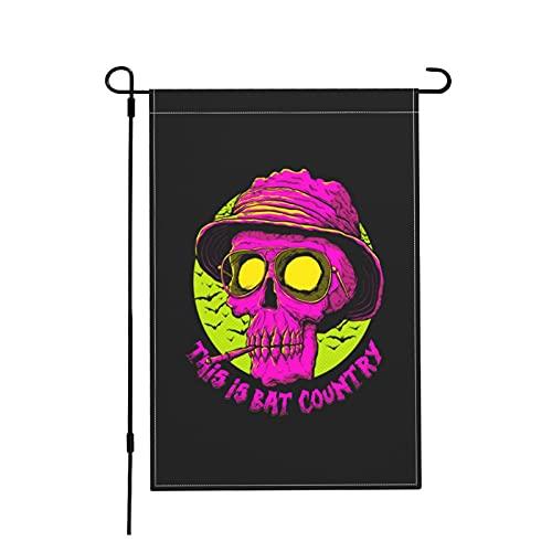 This Is Bat Country - Bandera de jardín de cáñamo de imitación de 45,7 x 30,7 cm (doble cara)