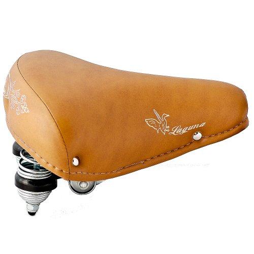 Selle Montegrappa FAHRRADSATTEL Leder CITYSATTEL in Retro Look für 26-28 Zoll Fahrrad Laguna hell braun - Made in Italy