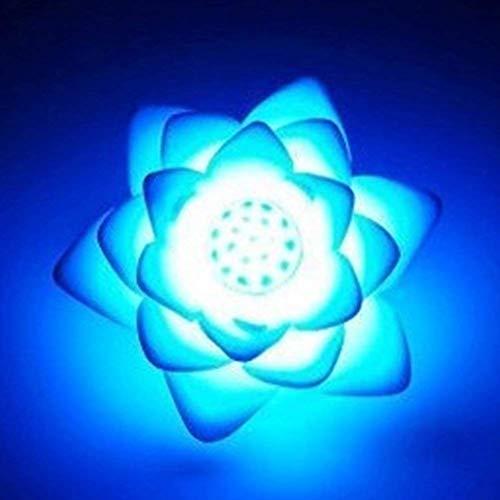 szdc88 Romantisch LED Lotus Blumen Licht mit 7 Verändern Farben Schwimmende Solar Licht LED Nachtlicht Wasser Lilie für Weihnachten Pool und RGB Teich Garten Dekoration - 7 Verändern Farbe, Free Size