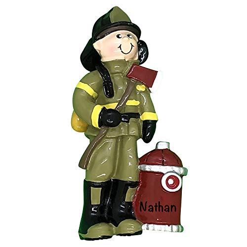 Adornos de Navidad personalizados para las ocupaciones – Encantadores adornos de árbol de Navidad – Regalos de bombero personalizados, adorno de hombre bombero para árbol, regalo de bombero
