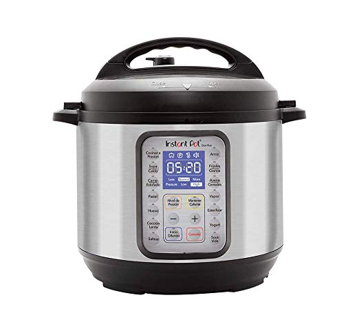 Instant Pot Duo Plus 60, Olla de presión Multi Cooker Programable 9 en 1 multiusos, 5.7 litros 6 cuartos, cocción de alta y baja presión, olla de acero inoxidable, 15 programas inteligentes