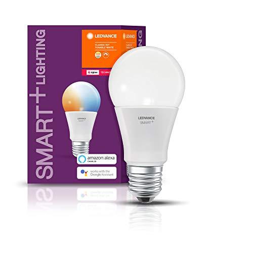 Preisvergleich Produktbild LEDVANCE Smart+ LED,  ZigBee Lampe mit E27 Sockel,  warmweiß bis tageslicht (2700K - 6500K),  dimmbar,  Direkt kompatibel mit Echo Plus und Echo Show (2. Gen.),  Kompatibel mit Philips Hue Bridge