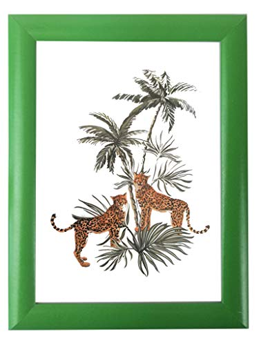 Wallazz Cornice PORTAFOTO da Parete, Profilo BOMBATO, in MDF, Dimensione 35X50, Colore Verde