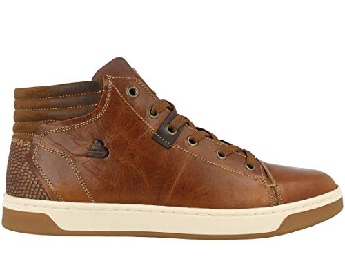 BULLBOXER Herren Sneaker, Männer Low Top Sneaker,Halbschuh,Strassenschuh,Schnürer,Schnürschuh,Sportschuh,Freizeit,Cognac,46 EU / 11 UK