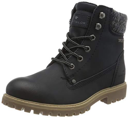 Tom Tailor Womens 9090105 Mid Calf Boot Bootie Boot, Navy, 5 UK