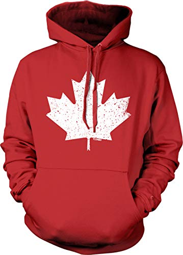 Canadian Maple Leaf - Canada Pride Unisex Hoodie Sweatshirt (Red, X-Large)