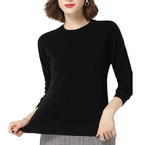 Glamexx24 Dames Effen Kleur Lange mouw Coltrui Casual Gebreide sweater Sweatshirt Warm Fijn trui