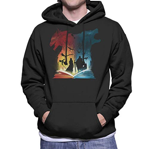 Book of Fire and Ice Game of Thrones Men's Hooded Sweatshirt