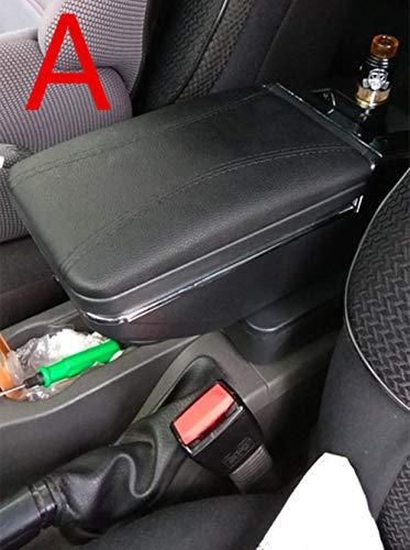 TTZY Para Opel Astra Reposabrazos Caja Opel Astra H Universal Coche Reposabrazos Central Caja de Almacenamiento portavasos Accesorios de modificación del cenicero, una línea Negra Negra