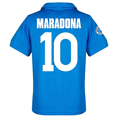 87-88 Neapel Home Retro Trikot + Maradona 10 - S