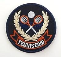 丸型 TENNIS CLUB アイロン ワッペン 刺繍 パッチ