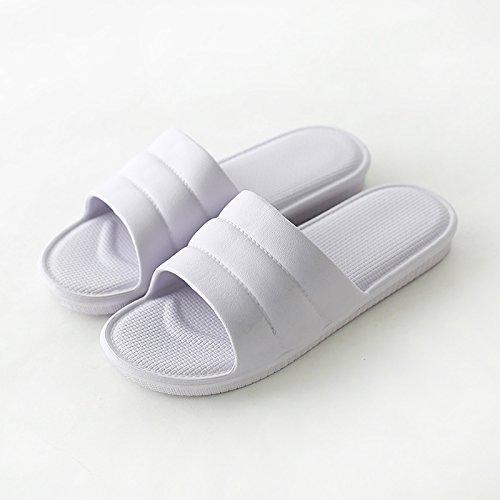 fankou Home Zapatillas Mujer Verano Piso de Espuma de Baño con Piscina casa de Baño de Mujeres Ligero y Fresco en el Verano y,35-36, Violeta C