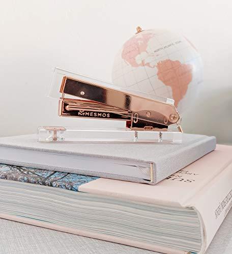 Rose Gold Stapler for Desk - Clear Acrylic Stapler - Cute Stapler for Office Desktop - Designer Stapler - Elegant Desk Accessory - Trendy Novalty Stapler - Pretty Copper Color - Large Lucite Stapler Photo #6