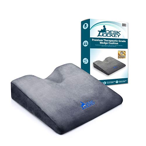 Car Seat Cushion - Premium Firm Therapeutic Grade Automobile Wedge Pad to Elevate Height and Comfort While Driving for Motorists, Truckers, and Vehicle Use