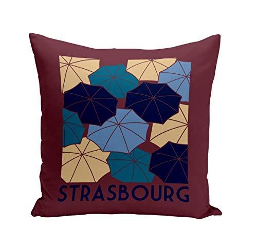 Fabulous Coussin 40x40 cm Strasbourg Emblèmes Ville France Est