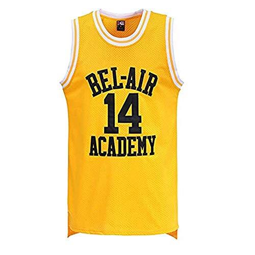 LIMQ Mannen Smith #14 Bel Air Academy Retro Basketbal Zomer Jersey Basketbal Uniform naar Ring Spun Katoen T-shirt Met Houd Je Droog en Comfortabel
