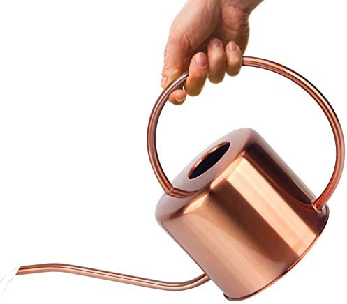 KIBAGA Decorative Copper Colored 40oz Watering Can Easy Pour Gooseneck Spout for Fast and Easy product image