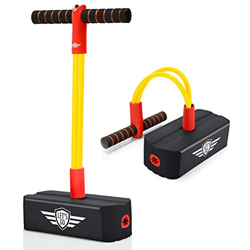 LET'S GO! Toys for 3-12 Year Old Boys Girls, Foam Pogo Jumper for Kids Fun Toys Pogo Stick for Kids Ages 3 and Up Toddler Toys Xmas Gifts Birthday Party Stocking Fillers Stocking Stuffer Ideas, Black