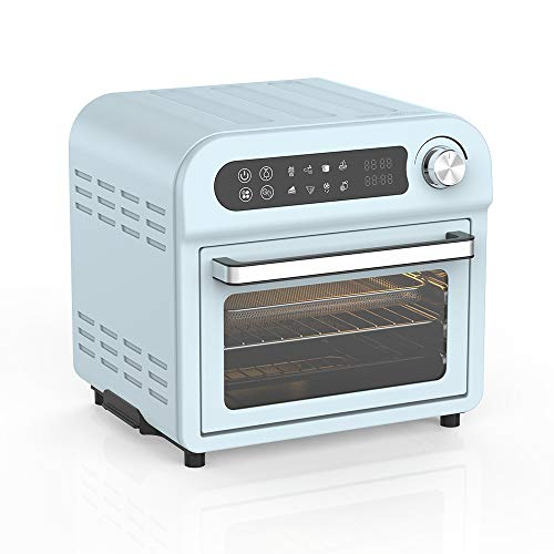 Convection Toaster Oven Air fryer Combo 8-in-1 Countertop Conventional Electric Touchscreen Digital Stainless Steel Compact Baking Roasters With Rotisserie Dehydrator Recipe Included Small Appliances with LED Display for Kitchen Home 11 QT Small Capacity (11QT TEAL)