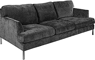 Amazon.com: Dark Grey Classic Modular Sofa Couch ...