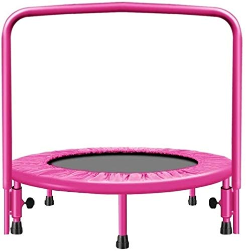 SYLOZ Trampoline Toddler Family Fitness Trampoline For Children Or Adults, Indoor Gym Slimming Aerobic Elastic Gymnastics Safety Jumping,Size:91cm/36in,Colour:Pink