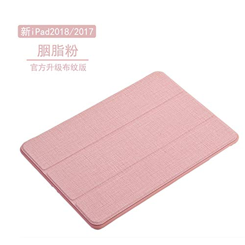 XXIUYHU For iPad2019 protective cover 9.7 inch new air2 silicone all-inclusive mini4 ultra-thin Pro10.5 tablet 3 soft shell   new iPad2018 / 2017 [rouge powder]