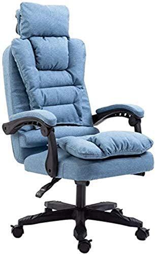 HOLPPO Draaibare computerstoel gewatteerde bureaustoel afneembare doek cover 155 ° fauteuil geschikt voor kantoor bureaustoelen (kleur: blauw)
